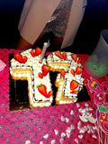 День рождения 17 лет стоковая фотография