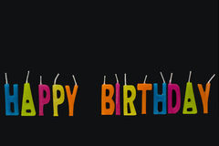 день рождения миражирует счастливое Стоковая Фотография RF