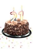 день рождения первые 20 годовщины Стоковое Изображение RF