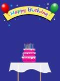 день рождения предпосылки иллюстрация штока