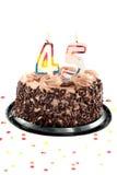 день рождения пятые 40 годовщины Стоковое Фото