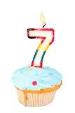 день рождения седьмое Стоковые Изображения RF