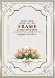 день рождения счастливый Предпосылка с розами букета Стоковое Изображение