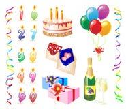 день рождения eps Бесплатная Иллюстрация