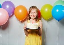 День рождения девушки Стоковые Фотографии RF