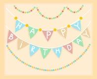 День рождения рамки. знамя Стоковая Фотография RF