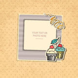 День рождения рамки фото иллюстрация вектора