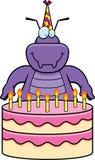 День рождения черепашки шаржа Стоковое Изображение