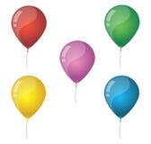 День рождения Baloons Стоковое Изображение