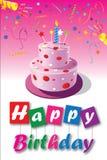 День рождения card-05 Стоковые Фотографии RF