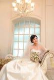 День свадьбы молодых азиатских пар Стоковая Фотография