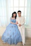 День свадьбы молодых азиатских пар Стоковое фото RF
