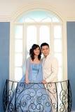 День свадьбы молодых азиатских пар Стоковое Фото