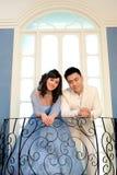 День свадьбы молодых азиатских пар Стоковое Изображение RF