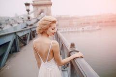 День свадьбы в Будапеште Стоковые Изображения RF
