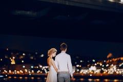 День свадьбы в Будапеште Стоковое Фото