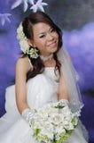 День свадьбы & захват, азиатская женщина, азиатская невеста Стоковые Фотографии RF