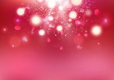 День Святого Валентина, сердце Bokeh разбрасывает, любит взорвать роскошный фон празднует иллюстрацию вектора предпосылки праздни иллюстрация вектора