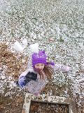 День снега потехи Стоковая Фотография