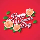 День счастливых женщин Поднял Стоковые Фото
