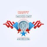 День Трудаа, конспект, компьютер, графический дизайн с молотком и ключ Стоковая Фотография RF