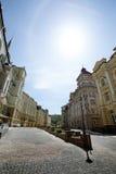День улицы Sity солнечный стоковая фотография rf