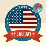 День флага карточки дизайна Соединенных Штатов плоской Стоковые Фото