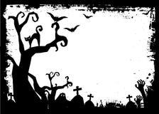 День хеллоуина черный призрак летучей мыши и тыквы Стоковые Фотографии RF