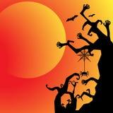 День хеллоуина черный призрак летучей мыши и тыквы Стоковое Изображение RF