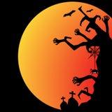 День хеллоуина черный призрак летучей мыши и тыквы Стоковое Фото