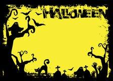 День хеллоуина черный призрак летучей мыши и тыквы Стоковые Изображения RF