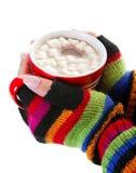 день шоколада холодный горячий Стоковая Фотография