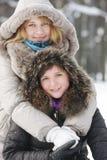 день 2 женщины зимы молодой Стоковые Фотографии RF
