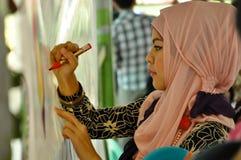 День Hijab мира в Маниле стоковая фотография