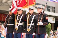 День Indepedence церемонии гимна Стоковые Изображения RF