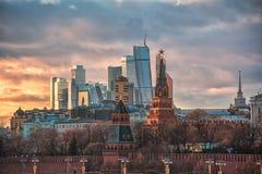 день kremlin moscow города напольный Стоковое Фото