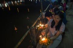День Loy Krathong Стоковое Изображение