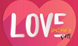 День ` s валентинки в дизайне влюбленности Стоковые Фото