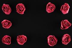 День ` s валентинки - предпосылка роз Стоковые Изображения