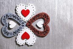 День ` s валентинки, свадьба, влюбленность Белый tracery, красный цвет, серый цвет, коричневый цвет, Стоковая Фотография RF