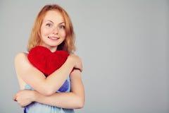 День ` s валентинки женщины ждать Стоковая Фотография