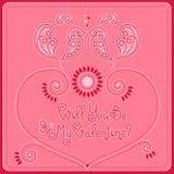 День ` s валентинки открытки Стоковое Изображение
