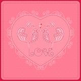 День ` s валентинки открытки Стоковое фото RF