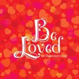 День ` s валентинки открытки Стоковые Изображения