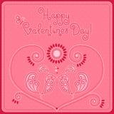 День ` s валентинки открытки Стоковое Изображение RF