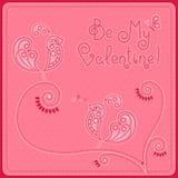 День ` s валентинки открытки Стоковые Фото