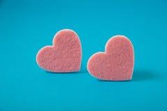 День ` s валентинки, пинк чувствовал сердца Стоковое Изображение RF