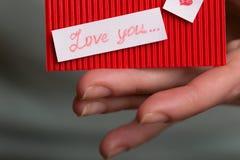 День ` s валентинки - поздравительная открытка Стоковые Фотографии RF