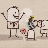 День ` s детей и отца шаржа бесплатная иллюстрация