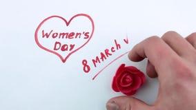 День ` s женщин и декоративный floret сток-видео